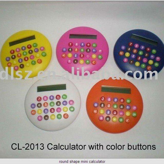 round shape mini children calculator