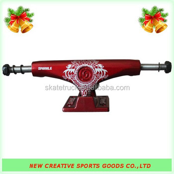 Sparkle Low Skateboard Trucks (Red/Dragon)