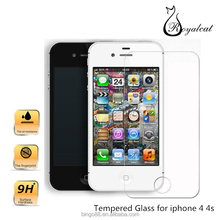 Free Sample Premium Real Front+Back Tempered Glass Film Screen Protector For iPhone 4 4s