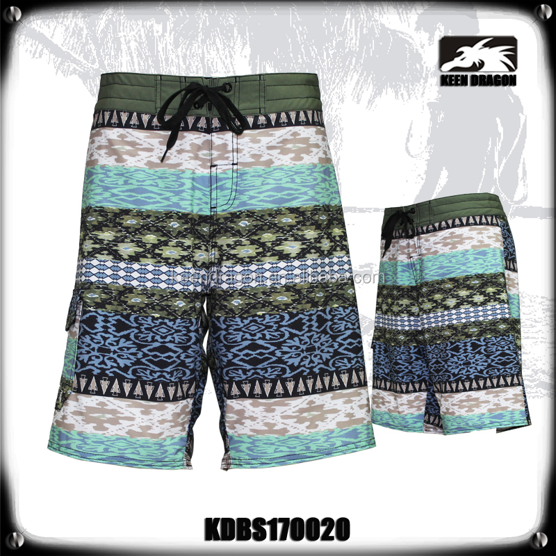 Wholesale Quick Dry Customized Men's Shorts Water Resistant Swim Trunks Boys Swimwear