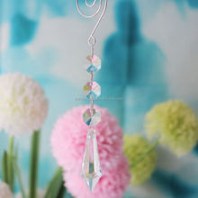15CM Clear Plastic Acrylic Full Cut Kite Lamp Beading Prism Ornament