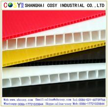 pp corrugated plastic cardboard sheets/corrugated plastic sheets 4x8