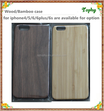 Cell phone case natural walnut wood case for iphone 5s 6s, bamboo for iphone 6 plus case wood ,for iphone case 5 6 6plus wood