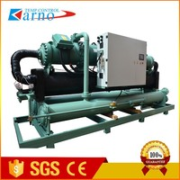Karno Industrial Screw chiller for salt water/water cooled chiller for salt water