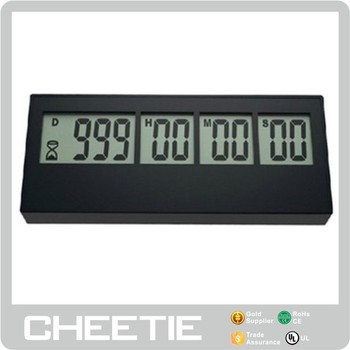 Mini Digital 365 Days 999 days 9 Digits LCD Digital Display LCD Countdown Timer for Wholesale in Timers