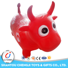 New style rubber jumpping ride on cow toy inflatable farm animals
