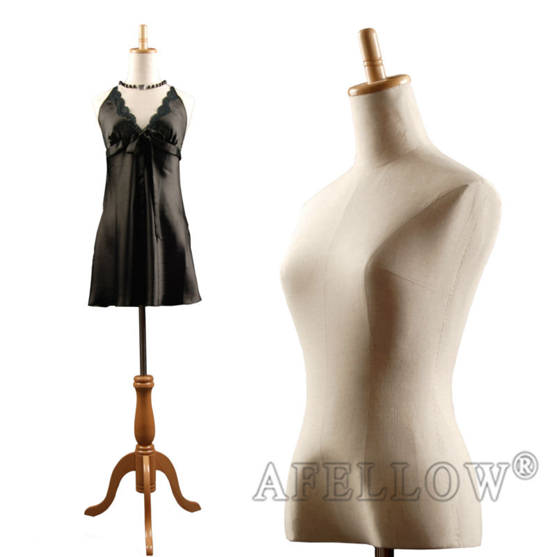 M004-F-1 Dress foam mannequin Female beautiful Fabric cover female cheap mannequin torso female torso mannequin