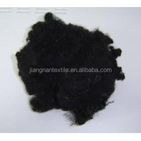 polyester staple fiber black color -polyester staple fiber virgin grade