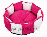 Luxury Winter Round Warm Soft Pet Bed Comfortable Suede fabric Dog cushion