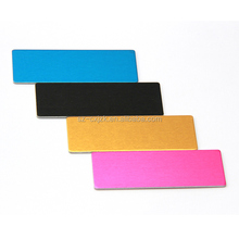 Custom size and shape blank design aluminum tags engraved logo
