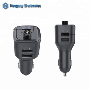 Multi-function bluetooth music player QC3.0 Type-c PD dual USB car charger with TF card