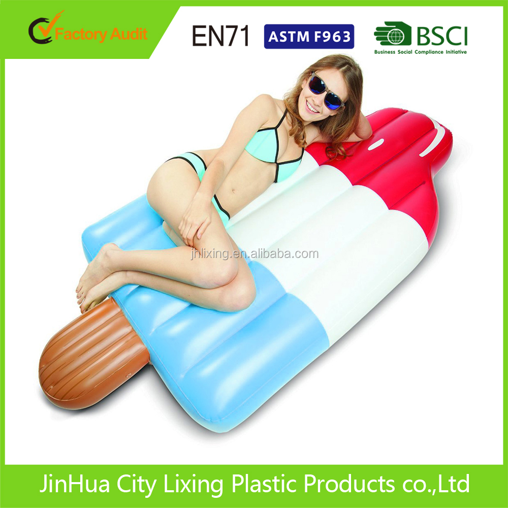 colored ice cream inflatable floating row,ice cream air mattress,ice cream floating mat