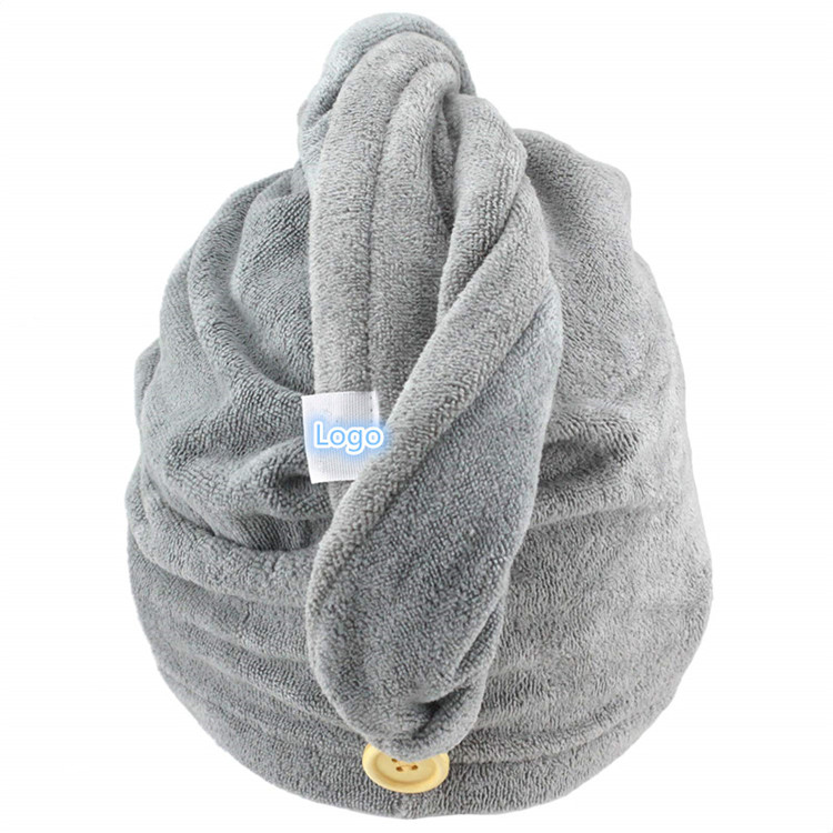 Wholesale Custom Quick Dry Microfiber Hair Turban Wrap <strong>Towel</strong> For Girls/Women