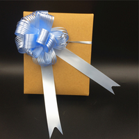 Top selling christmas gift wrapping blue pull string bows