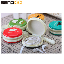 Creative pu leather headphone protective case with free cable organizer