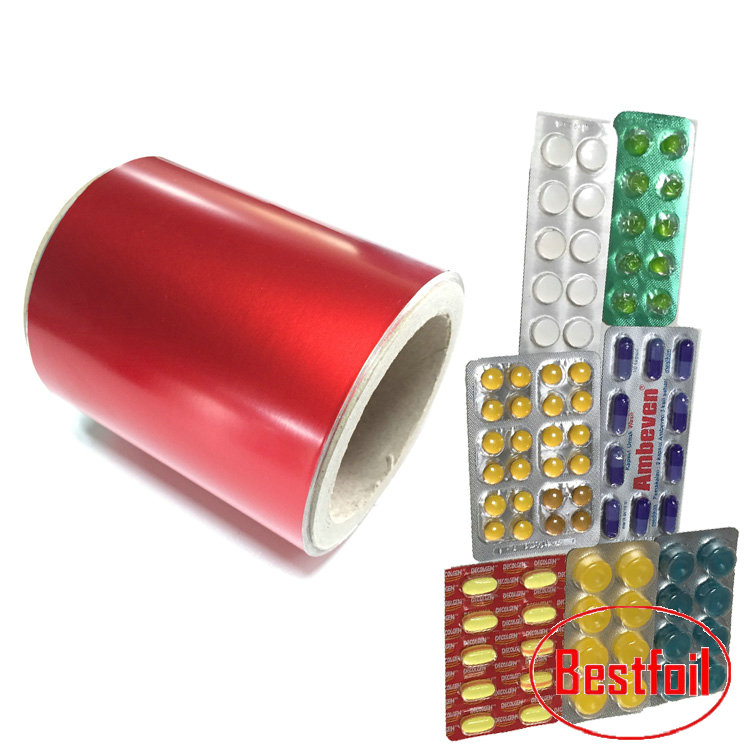 Pharmaceutical aluminum Blister Foil Used to Pack Tablets Capsules and Pills into the Blisters