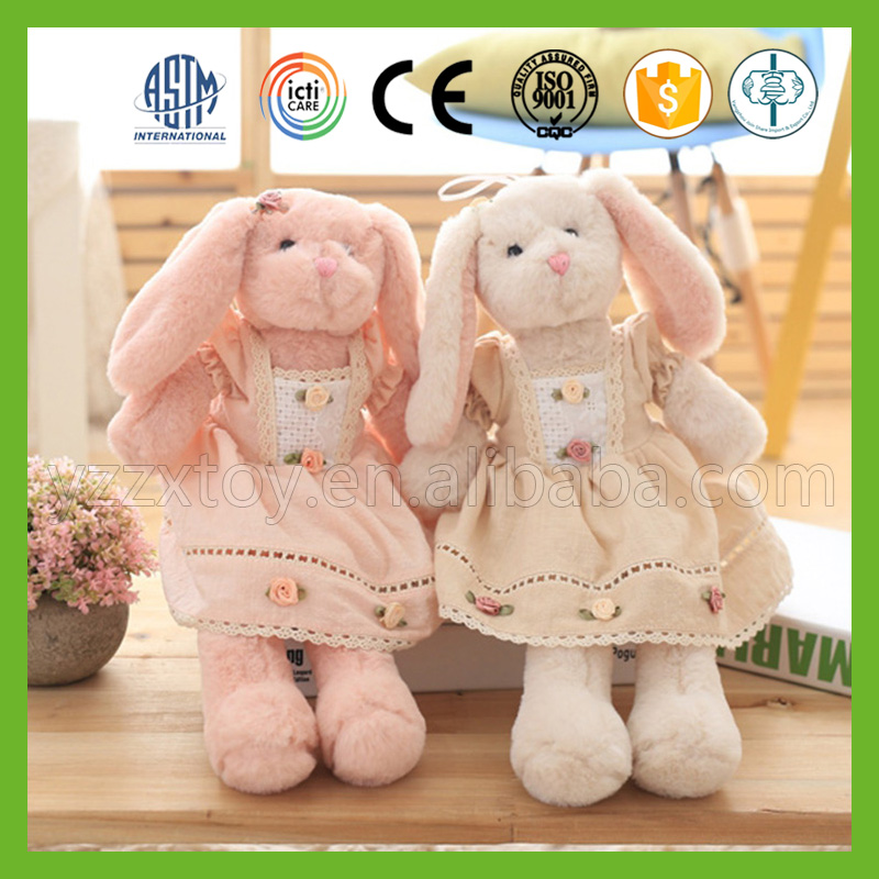 2016 popular high quality rabbit plush toy with long legs