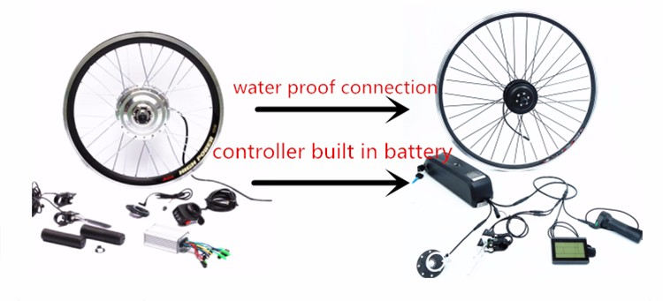 DIY 36V 250w e-bike conversion kits with waterproof and CE certification