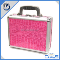 MLD-GC181 Pink Alligator Leather Popular Beauty Aluminum Gun Storage Case
