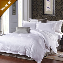 Customized logo 60s king size hotel bed linen bedding set 100% cottom dubai bed sheet set