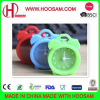 new design unbreakable silicone funny small table clock
