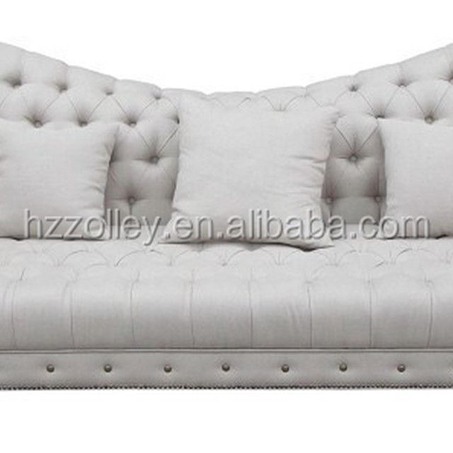 Italian style accent carved wood legs and trim sofa high end wing broad back resting sofa drawing room sofa