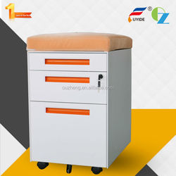 Customizable high quality office 3 drawer Filing Cabinet pedestal with Wheel, Mobile Storage Cabinet