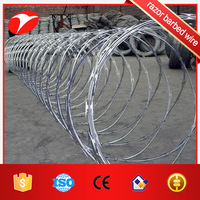 Galvanized welded razor wire mesh