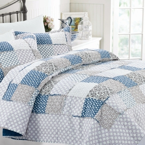 High quality Cotton bedspread patchwok quilted quilt