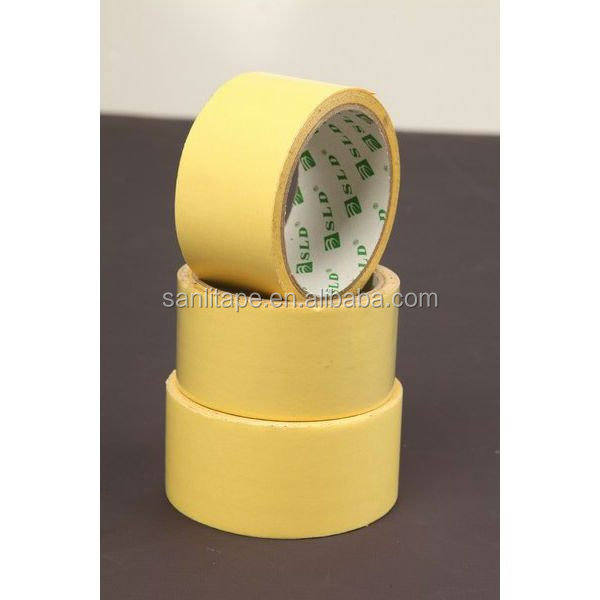 Wholesale good price free sample 100 degree high temperature resistance white auto painting masking tape,white tape,paper tape