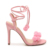 Peep Toe Lace Up With Fuzzy Ball High Heel Roman Gladiator Shoes Women Sandal