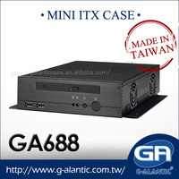 GA688 Mini ITX Computer Case for Car PC and Thin Client Computing