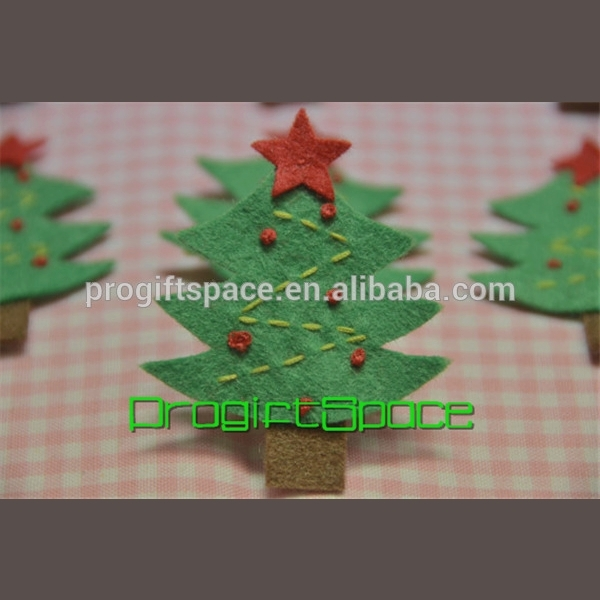 2018 Felt handmade felt Christmas Tree meadow green made in China