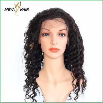 Natural hair products unprocessed hair original deep wave full lace human hair in wigs