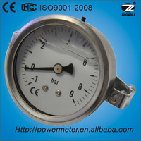 (Y-63Z) 63mm ss case and brass thread oil liquid pressure gauge with alarm