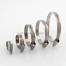 exhaust pipe clamps worm drive spring band loaded Perforated Type German ideal hose clamp sizes