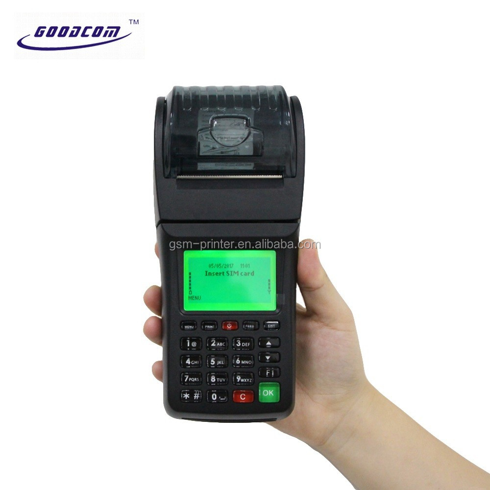 Portable GPRS Printer GSM SMS POS Terminal for Mobile E Wallet