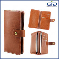 [GGIT] 2016 High Quality Universal Wallet Style Genuine Leather Smart Phone Case