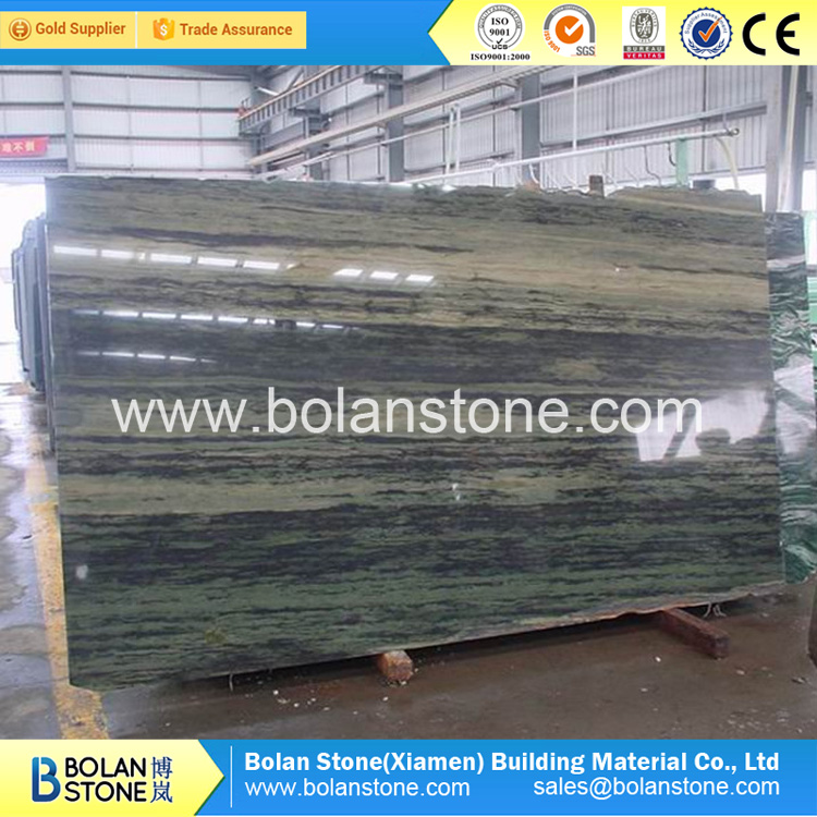 Big polished slabs Verde Bamboo granite slabs tiles slabs 240up x 120up x 2/3cm