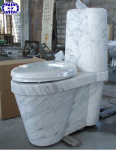 Decorative natural marble stone toilet seat