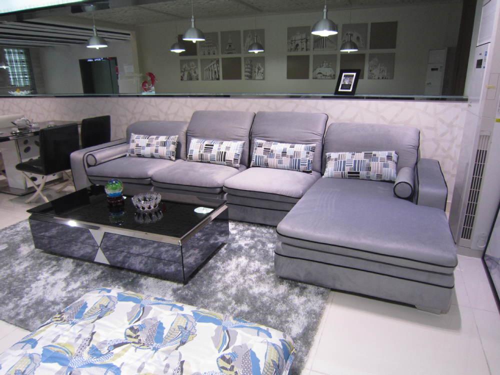 2015 purple living room design sofa furniture price list for Meuble india