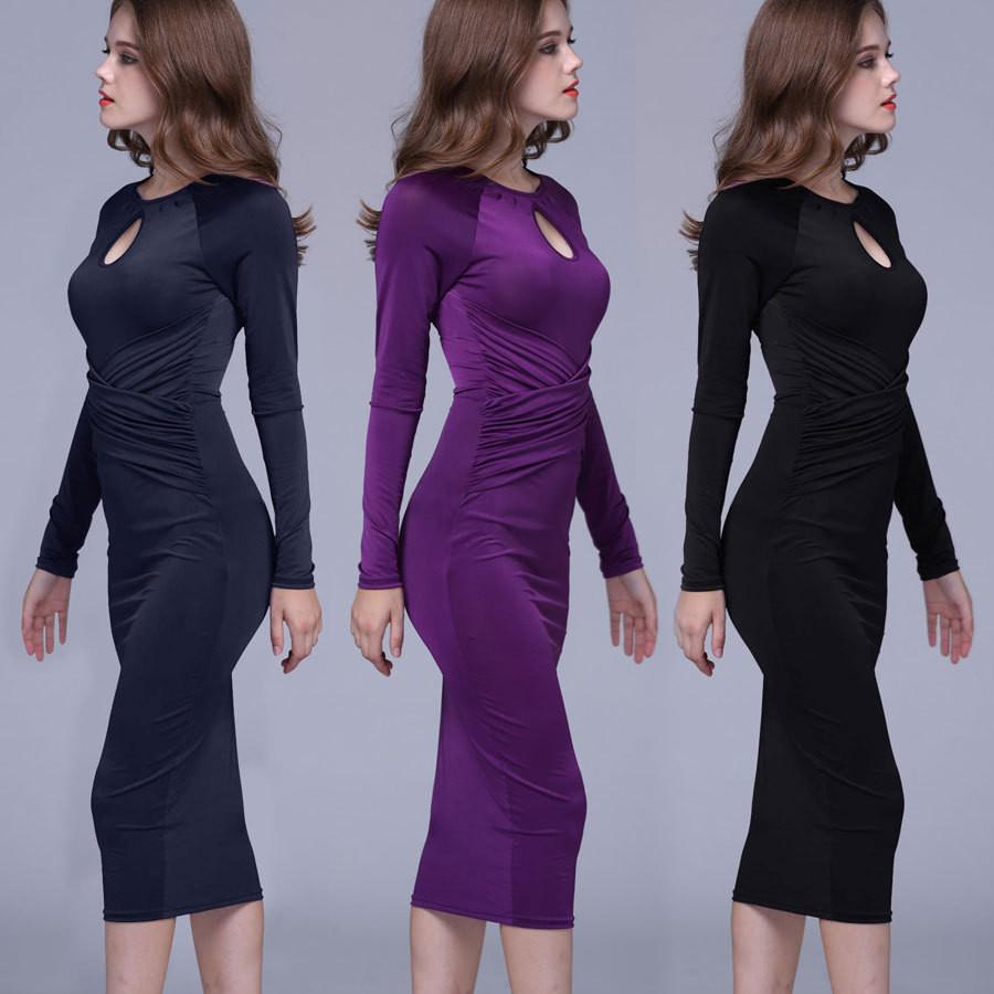 Venta al por mayor vestido azul de fiesta largo-Compre online los ...