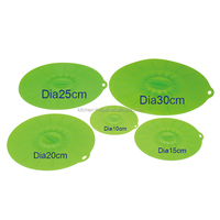 Factory Wholesale Eco-friendly Multi-function Silicone Universal Suction Lid- Set of 5