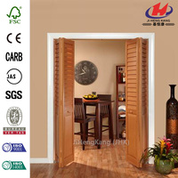 JHK-B06 Rails Retractable Cabinet Laminated Board Partition Wall Interior Veneer Door