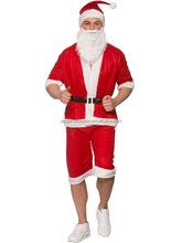 Mens Adult Santa Suit Fun Run Father Christmas Standard Fancy Dress Costume Xmas AGM3510