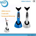 Professional Led Curing Light With Teeth Whitening Head 2200mW/cm2
