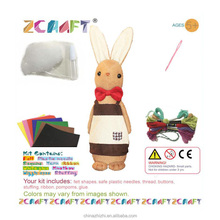 2018 best selling products in europe mine craft for children gifts educational toys 2017 for kids DIY Bunny sewing craft kit