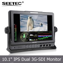 "ST-1019HSD 10.1"" seamless switch dual SDI 1080p broadcast monitor for DSLR and camcorder SEETEC"