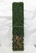 "122cm 48"" Height artificial Green plastic 3 Milan leaf boxwood Hedge fence E12 12M21"
