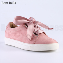 Wholesale flat suede fashion high quality oem brand lace up ladies free sample fancy female designs shoes and sneakers